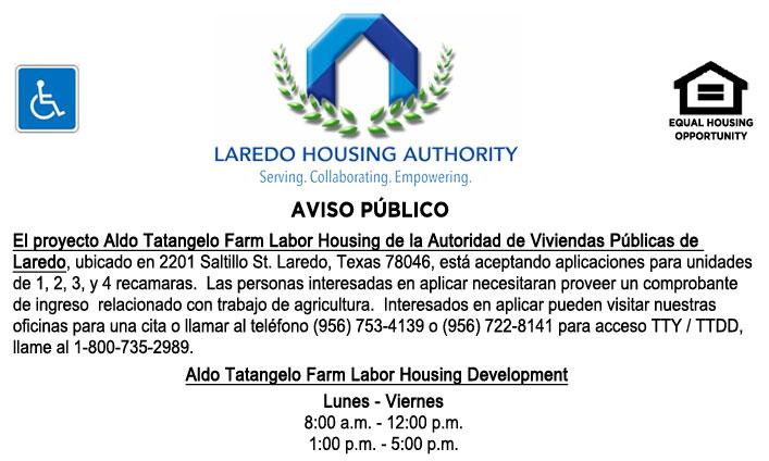 Aldo Tatangelo Farm Labor Housing Development está aceptando solicitudes
