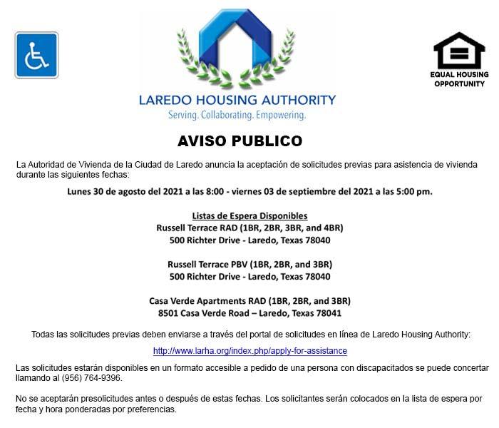La Autoridad de Vivienda de Laredo abrirá listas de espera